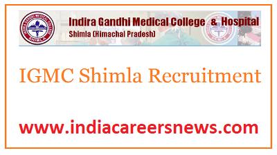 IGMC Shimla Recruitment