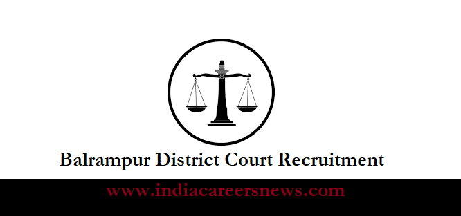 Balrampur District Court Recruitment