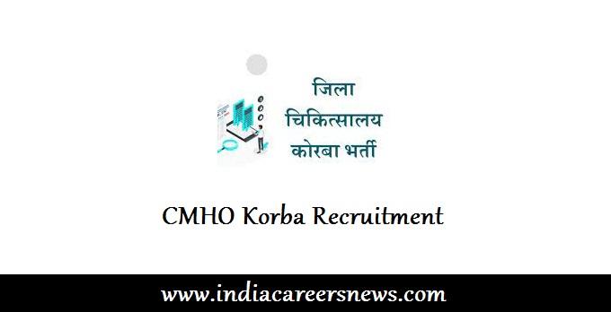 CMHO Korba Recruitment