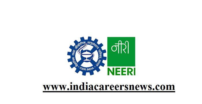 NEERI Nagpur Recruitment