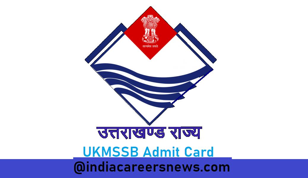 UKMSSB Admit Card
